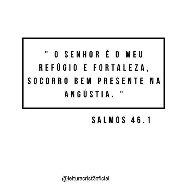 """"""" O Senhor é o meu refúgio e fortaleza, socorro bem presente na angústia. """" Salmos 46.1 ⠀⬇️ PARCERIAS ⬇️ @bleianos__estilosos @estilocristao_ @blogassembleianos ________________ Sigam nosso ADM's @alisonhenrique5050 @danielly_dayanne _________________"""
