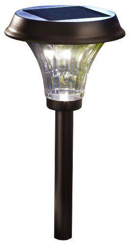 Moonrays 91754 Richmond Solar LED 25X Metal Path Warm white Light, Rubbed Bronze (Pack of 2)