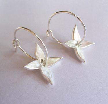 Looking for something special to give her... Kiri Schumacher: Jasmin Hoop Earrings Sterling Silver