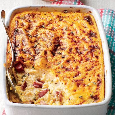 Top-Rated Christmas Brunch Recipes: Smoky Sausage-and-Grits Casserole