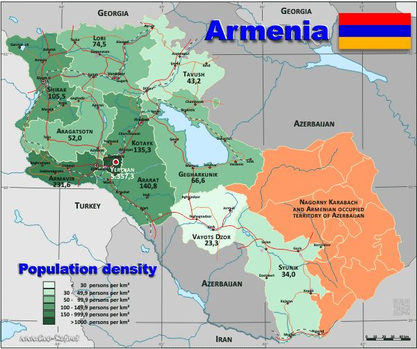 Armenia Population Density