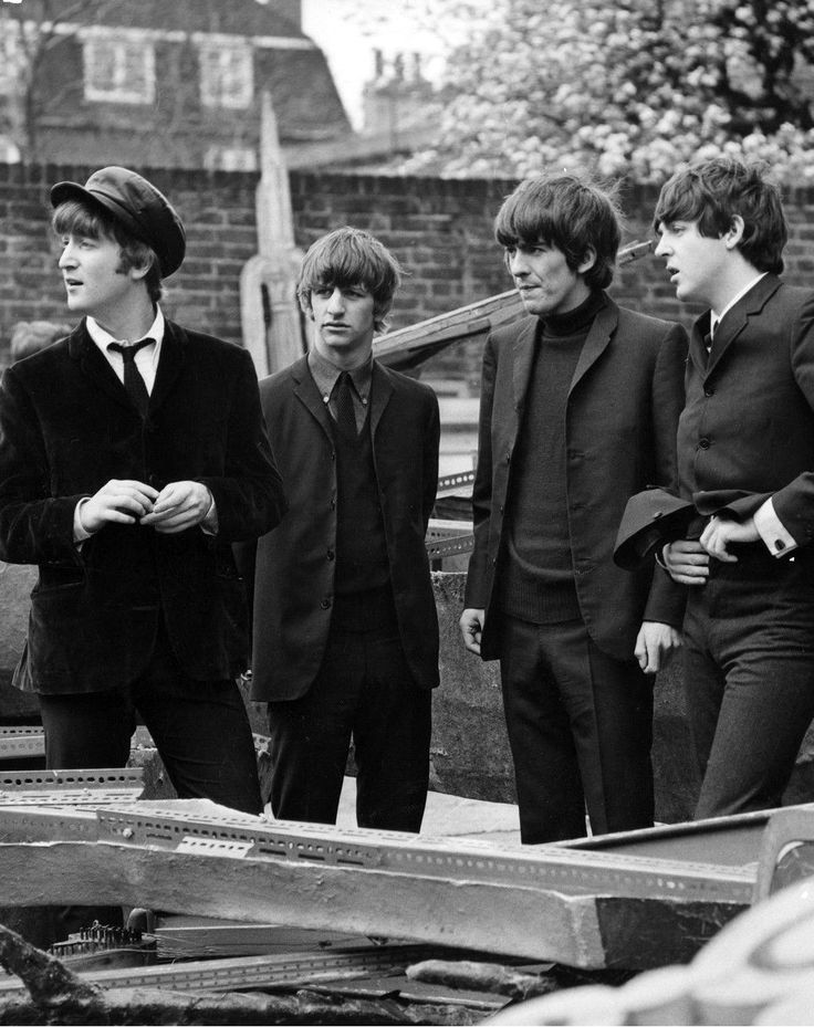1964 - The Beatles in A Hard Day's Night film (backstage photo).