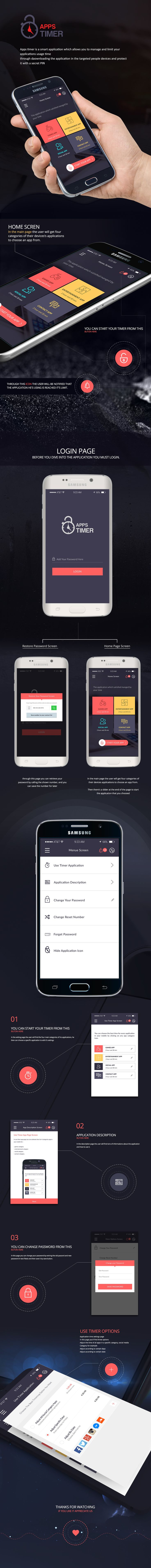 Apps Timer on Behance