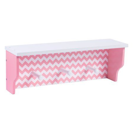 Pink Chevron Wall Shelf