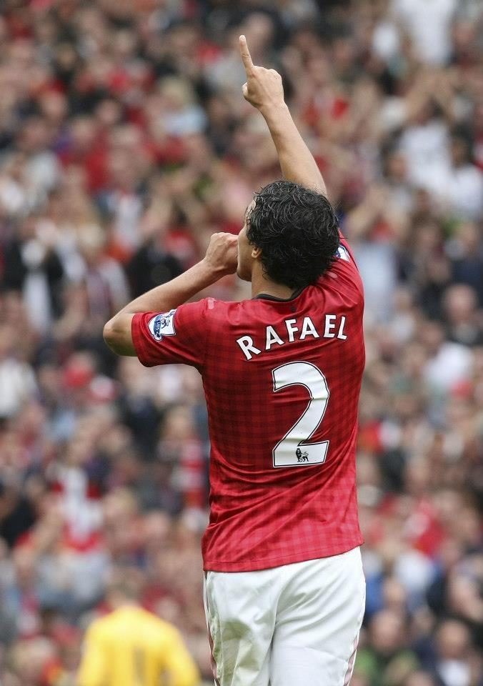Rafael, new Man Utd no.2  score on 25/8/2012