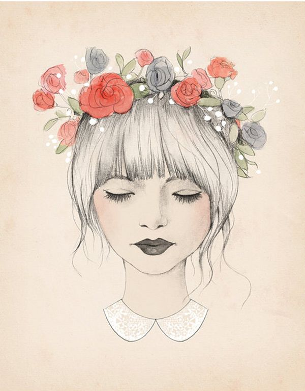 flower crown illustration by Kelli Murray