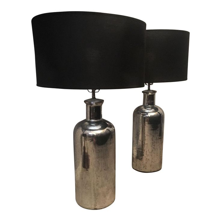 Restoration Hardware Mercury Glass Table Lamps - A Pair - Image 1 of 8