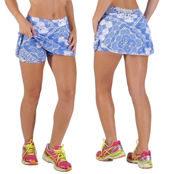 Saia Short Fitness Estampada Nanda- honeybe 31,93