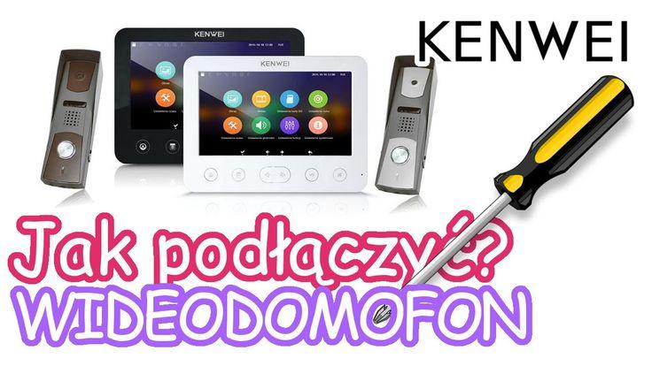 Jak podłączyć wideodomofon KENWEI - Instrukcja Tutorial Napisy - KW-E706FC z LA-409  FILM Z NAPISAMI ! WŁĄCZ NAPISY !  KENWEI Wideodomofon E706FC/W200 + LA-409 z pamięcią  Podłączenie klasyczne. Zasilanie +/- do monitora. Panel bramowy łączymy z monitorem 4 przewodami. Jak w większości analogowych wideodomofonów mamy audio, video, masa, zasilanie. Zwarcie audio z masą daje wywołanie.  biały - AF -audio czarny - GND - masa czerwony - VCC - zasilanie żółty - VD - video