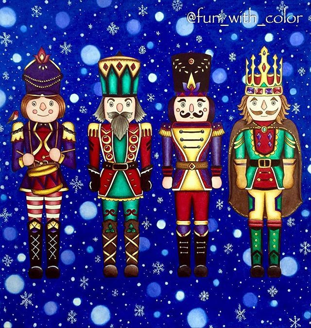 Nutcrackers. Colored pencils.