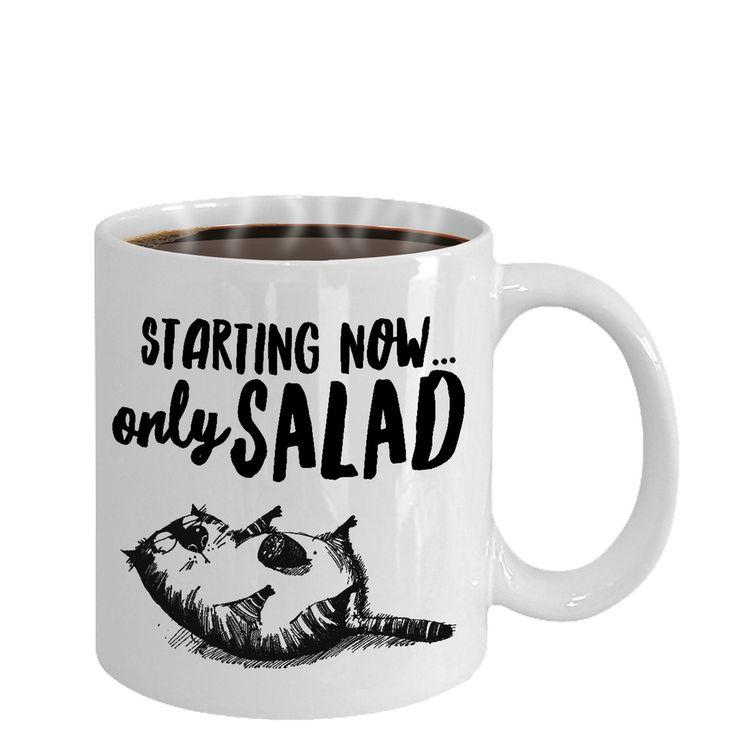 Funny Coffee 11 / 15 oz Ceramic mug Unique Hungry fat cat diet Meme cup    eBay