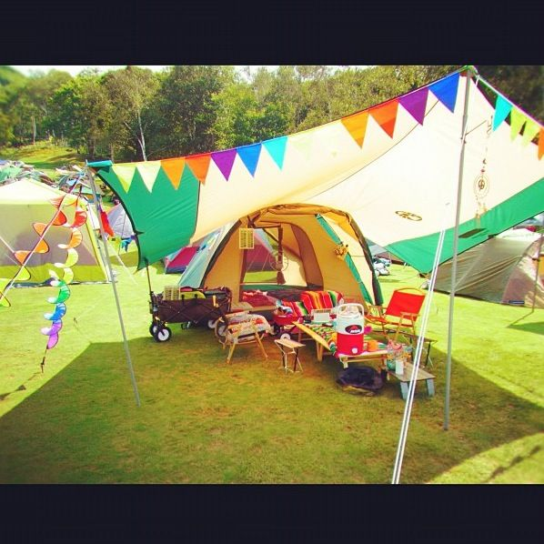 #camping -the girls would LOVE this set up!
