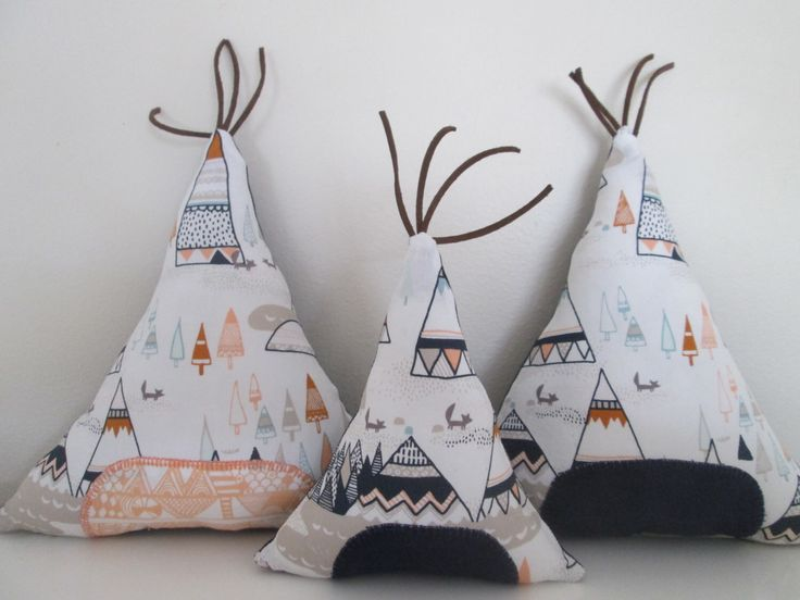 Teepee Pillow- Southwestern Nursery Decor, Aztec Baby, Navajo Baby Nursery- Made to Order- Choose Navy or Orange Accent Color by BrioTrio on Etsy https://www.etsy.com/listing/255029977/teepee-pillow-southwestern-nursery-decor