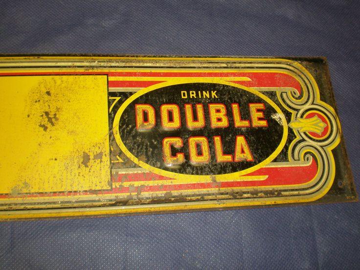 Double Cola Antique Door Push Sign (Vintage 1927 Tin Metal Screen Door Push  Soda Pop - 192 Best Antique & Aged Signs Images On Pinterest Vintage Signs