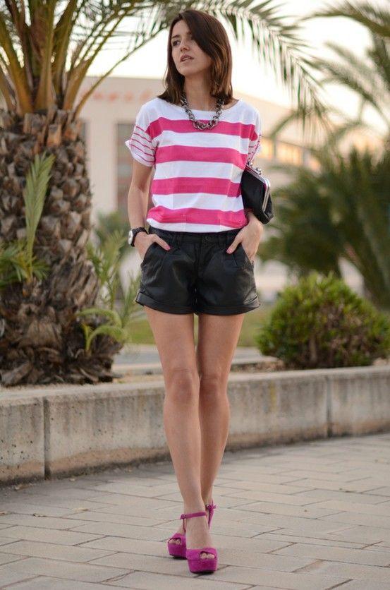 Carolina Prep: Favourite Bloggers, Pink Stripes, Bright Pink, Fashion Style, Closet, Style Fashion ️ ️