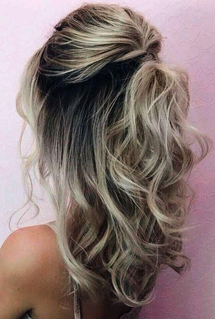 Wedding Invitations Groupon By Half Up Half Down Wedding Hairstyles For Medium Length Hair With Veil Medium Length Hair Styles Hair Lengths Medium Length Curls
