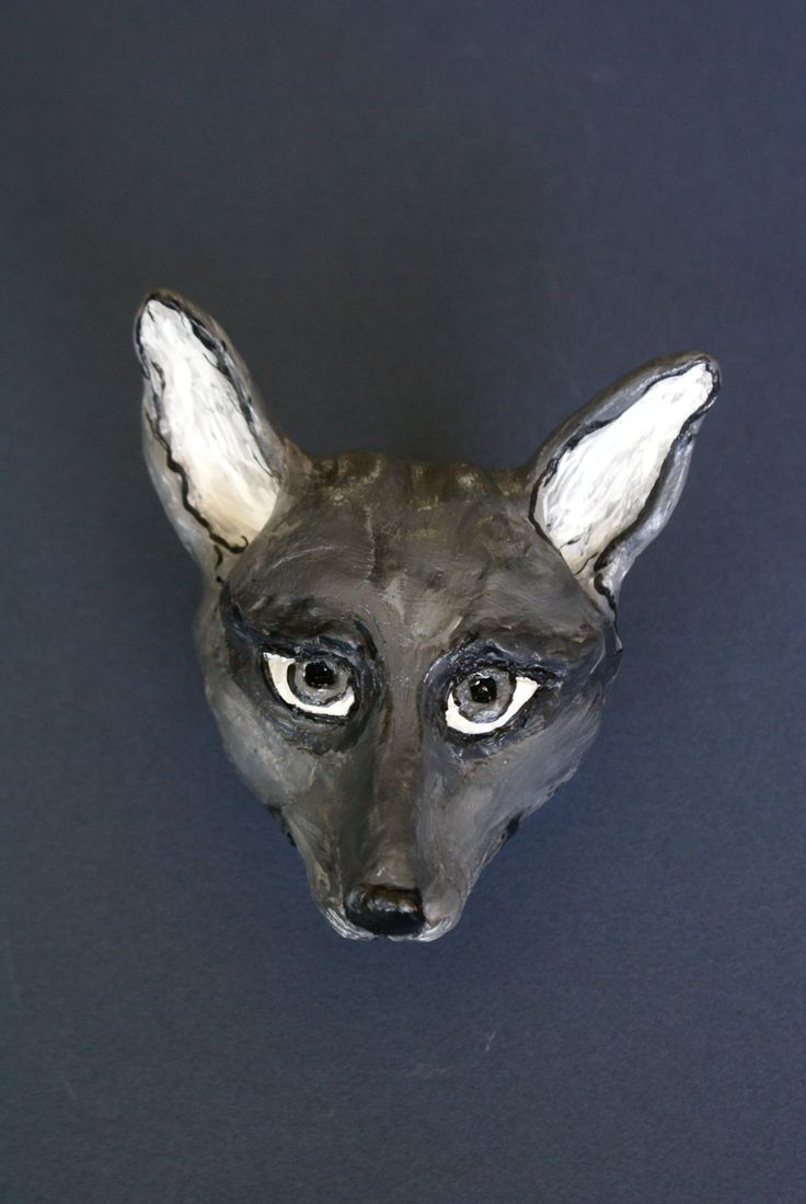 """Ceramic animal statuette """"The Little Fox"""", traditional modeling, unique art item, home decor, hand made and painted, ideal gift by Dellatola on Etsy"""