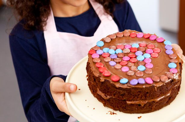 Make with kids: Hearty Smartie chocolate cake