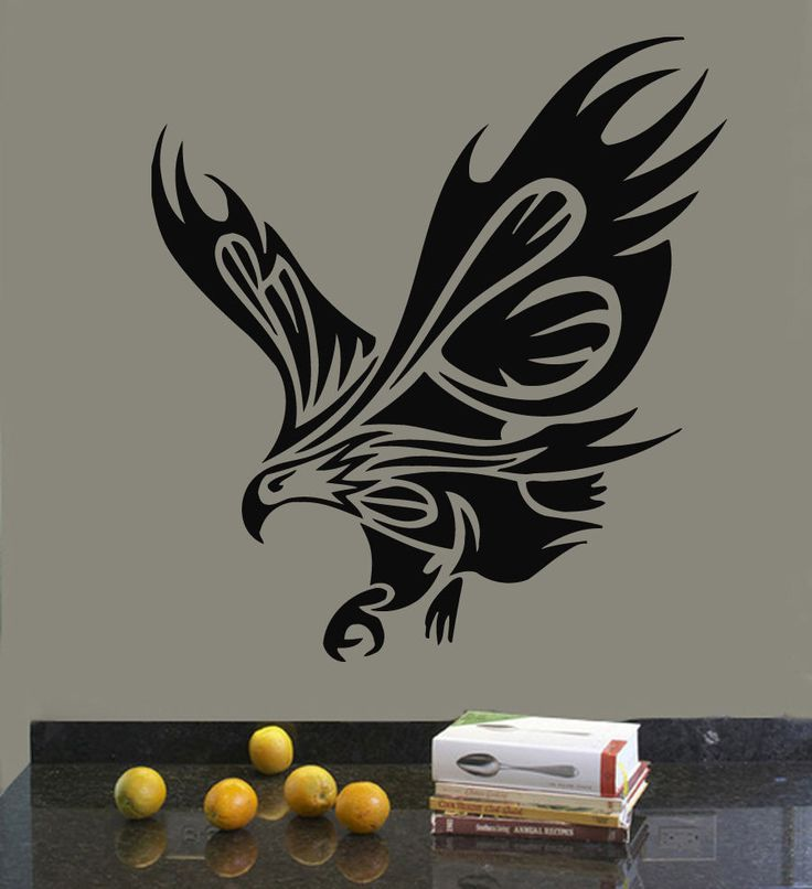 Wall Decals Vinyl Decal Sticker Murals Decor Animals Birds Tribal Eagle The size of the decal is 30''x22'' - The size shown in the picture may not reflect the true size. It is for the showing purpose.
