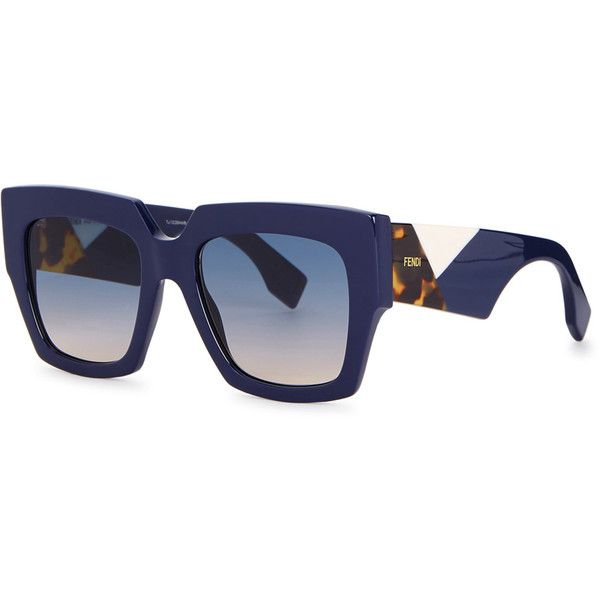 a66926c9993 Fendi Fendi Facets Square-frame Sunglasses ( 340) ❤ liked on Polyvore  featuring accessories