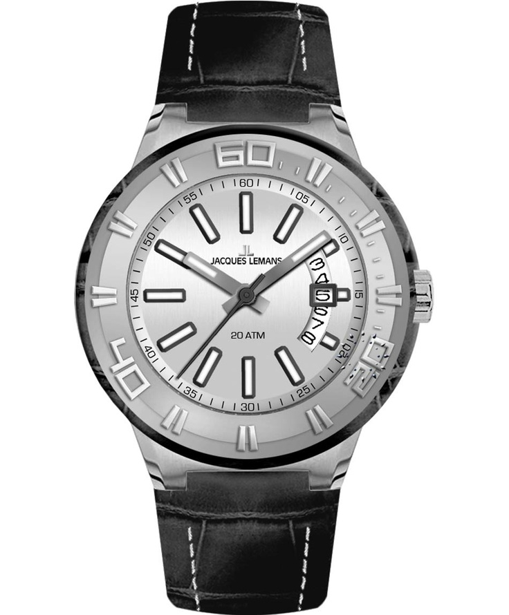 Jacques LEMANS Miami Sport Black Leather Strap Μοντέλο: 1-1770B Η τιμή μας: 107€ http://www.oroloi.gr/product_info.php?products_id=33847