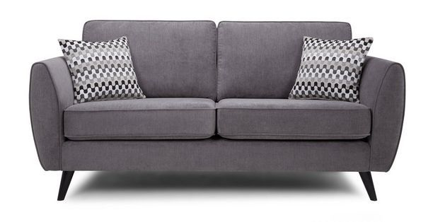 Aurora 3 Seater Fabric Sofa  Plaza | DFS £379 2 seater £369 Storage footstool £149