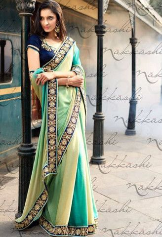 Green Jacquard Designer Saree..@ fashionsbyindia.com #designs #indian #fashion…