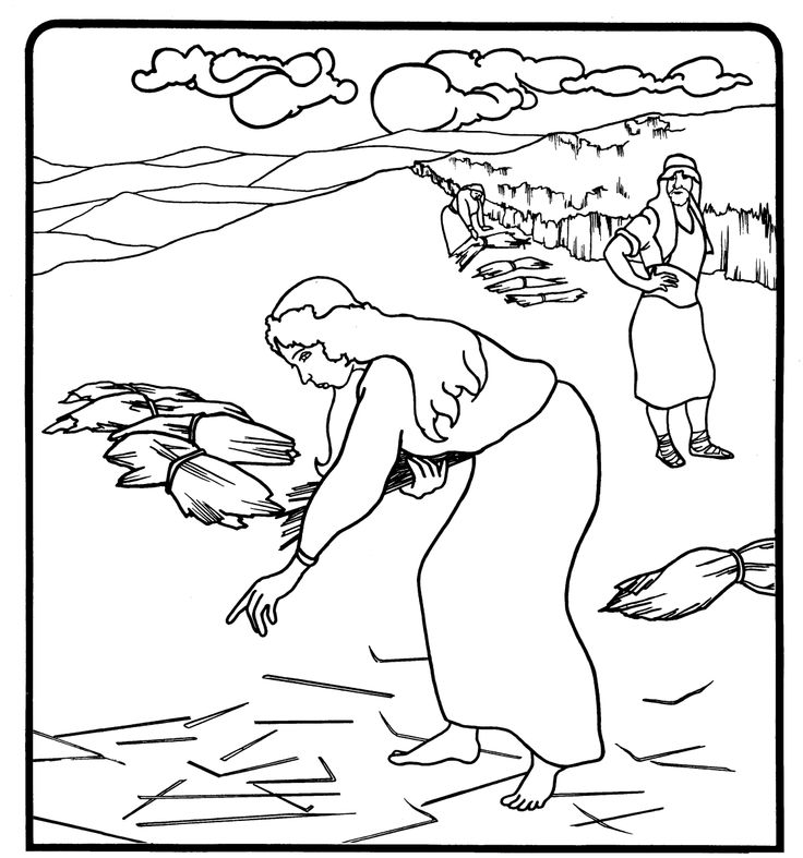 Free ruth in the bible coloring