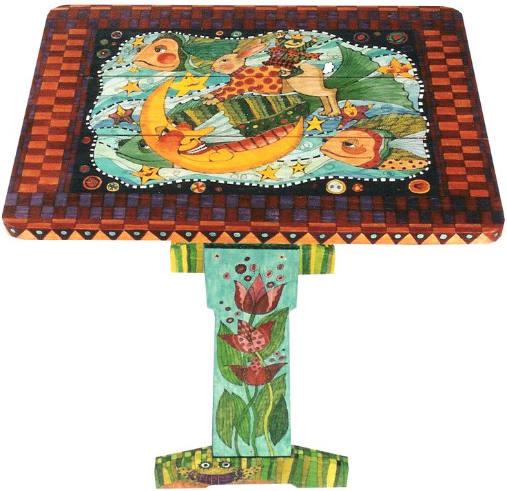 Colorful! Hand Painted FurnitureFunky FurniturePainted TablesFolding ...