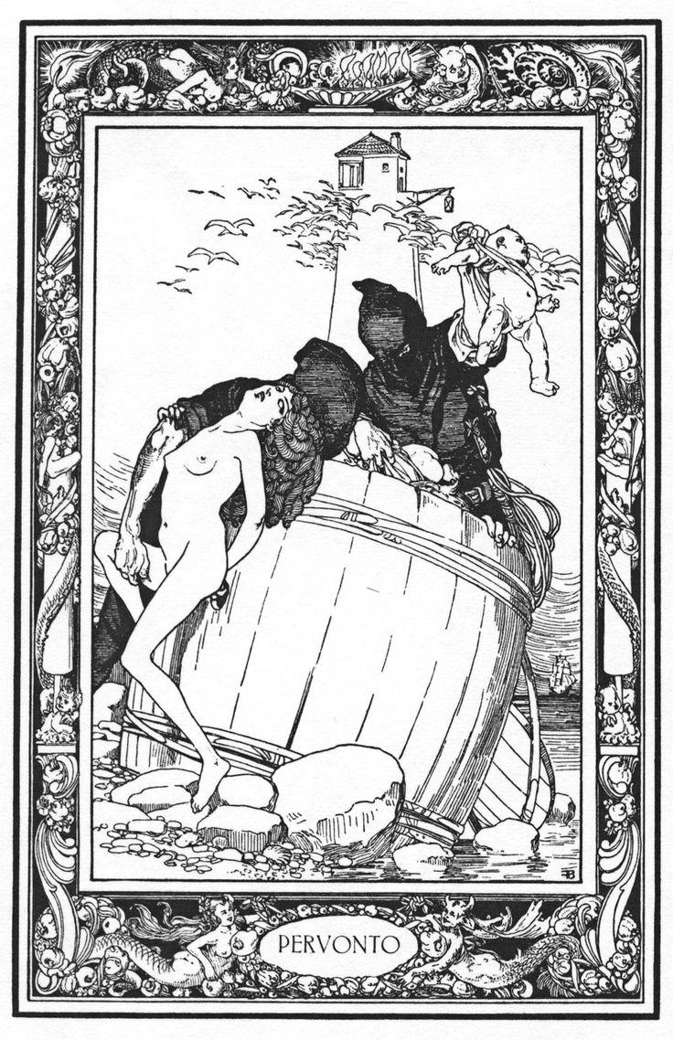 Franz von Bayros - illustration from 'The Pentamerone', 'Pervonto'