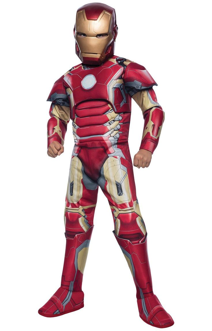 Avengers 2: Age of Ultron Deluxe Kids Iron Man Mark 43 Costume from BirthdayExpress.com