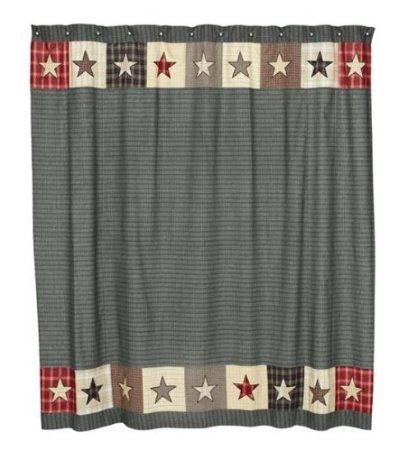Beautiful Amazon.com: America Patriotic Americana Country Patchwork Star Pattern  Shower Curtain: Home U0026