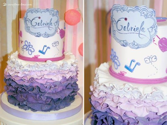 The cake for this Violetta themed party