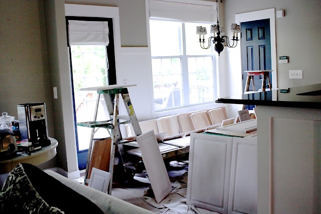 The Yellow Cape Cod Kitchen Cupboard Paint Etc Redo She