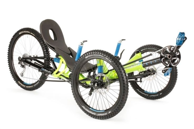 Hp Velotechnik Scorpion FS Enduro Recumbent Trike has the plushest and most refined suspension system system available. It is a pure off roaders dream trike
