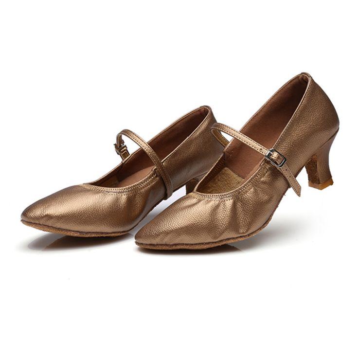 Free Shipping Hot Sale Khaki Latin Dance Shoes Women Girls Salsa Tango Ballroom Shoes Zapatos De Baile 229 #Affiliate