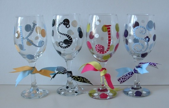 Wine glasses arts and crafts pinterest beautiful for Type of paint to use on wine glasses