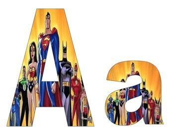 Lower case the justice league letters can be used for anti bullying