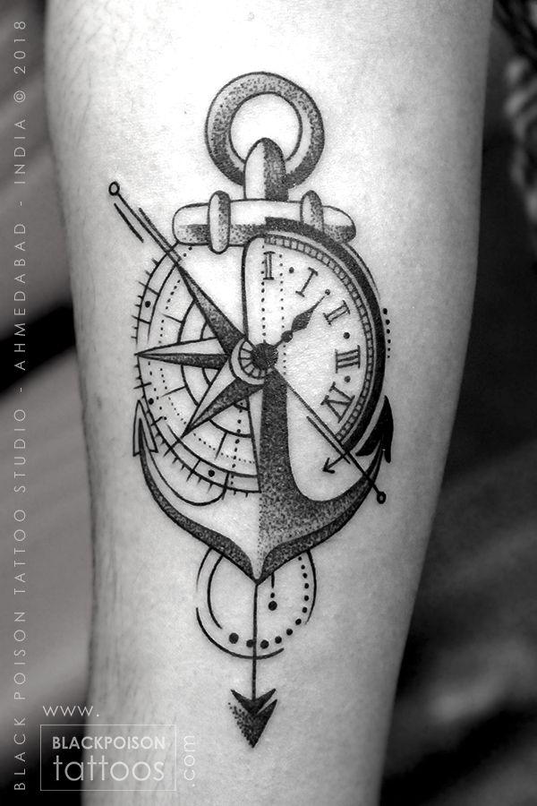 Compass Tattoo Anchor With Compass Tattoo Anchor Tattoo Tattoo