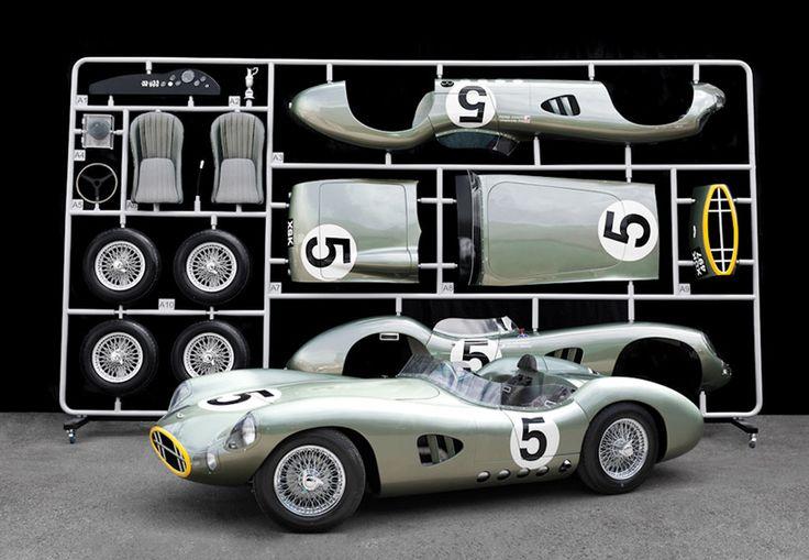 1959 aston martin DBR1 1:1 scale le mans replica by evanta motors