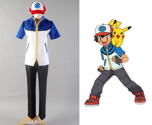 Pokemon go #cosplay #costume ash #ketchum satoshi black white halloween outfit…