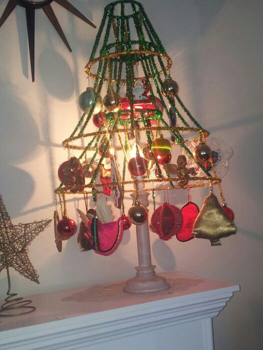 1260 best christmas images on pinterest christmas crafts table top lamp shade christmas tree made with small wood lamp as base aloadofball Choice Image