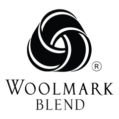 The Woolmark Blend logo: This indicates that the product contains 50%-99% pure new #wool Sub-brands: Wool Rich Blend, Merino Cool, CoolWool, Lycra Fibre®.