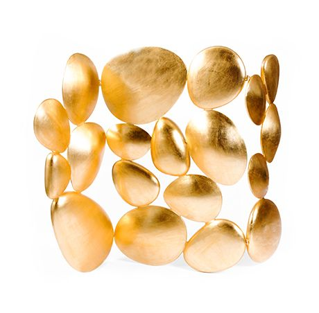 Boca do Lobo | Gold is a golden folding screen; this luxury gold leaf piece offers a sculptural composition that works as room divider. #goldscreen #foldingscreen #roomdivider #goldfurniture #decorscreen Find more here: http://www.bocadolobo.com/en/limited-edition/seating-others/gold/index.php