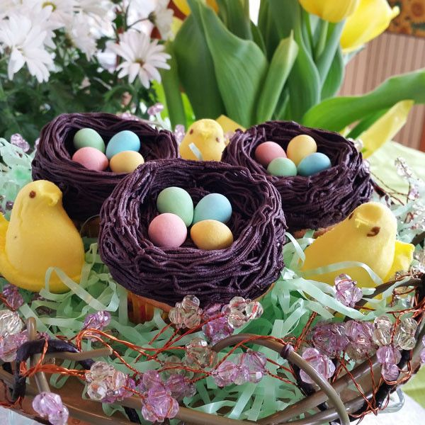 46 best easter gifts images on pinterest candy boxes chocolate cute easter gifts bird nest cupcakes smoochies creations baking cupcake negle Images