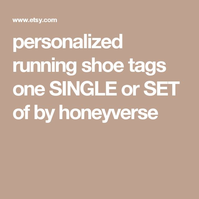 personalized running shoe tags one SINGLE or SET of by honeyverse