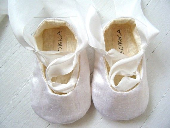 Organic Ballet Shoes, Baby Shoes, Toddler Flats, Flower Girl Shoes, Natural White Silk Hemp Satin, Bobka Shoes by BobkaBaby. $45.00, via Etsy.: Organic Ballet, Girl Shoes, Flats Flower, Ballet Shoes, Baby Shoes, Bobka Shoes, Shoes Baby