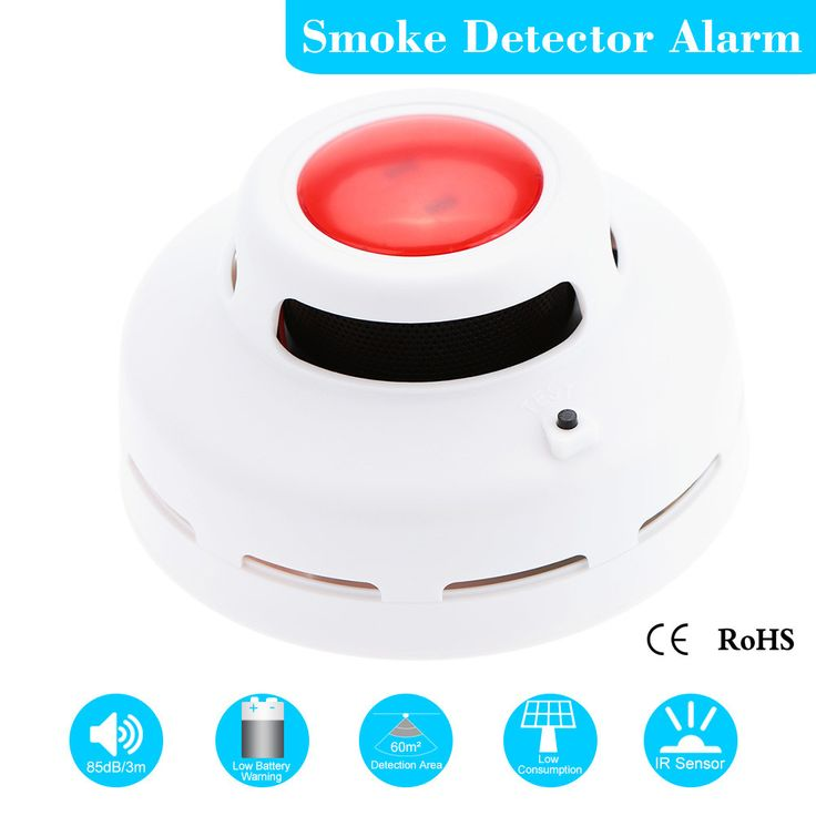Standalone Photoelectric Smoke Detector Fire Alarm Sensor Sound Flash Alarm Warning Smoke Test For Indoor Home Safety Security