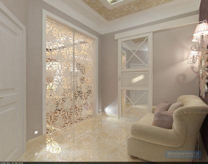 Прихожая и коридор в трехкомнатной квартире, совре...