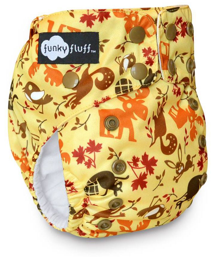 Itsy Bitsy Necessities would love for you to win a Funky Fluff FunkEh Forest prize pack consisting of a Funk-Eh Forest stay dry or bamboo diaper and a dual-pocket wet bag.